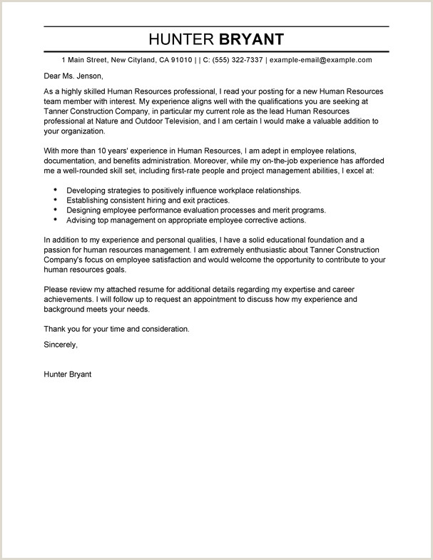Best Human Resources Cover Letter Samples