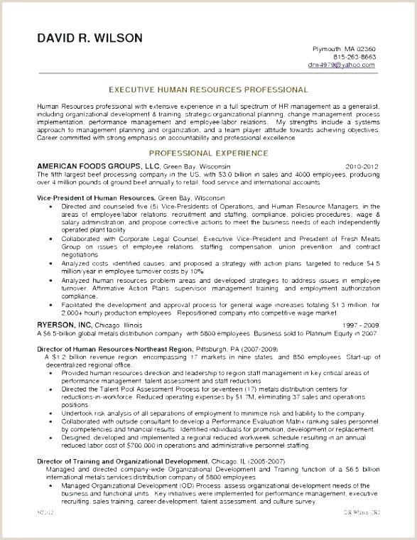 Cv format Of Hr Professional Human Resources Generalist Resume – Emelcotest