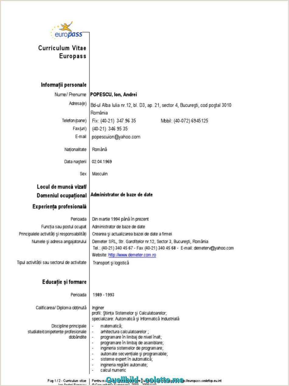 By Congress Curriculum Vitae Europass Romana Download