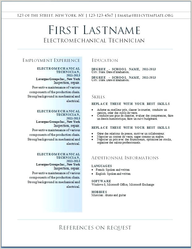 Latest Resume Templates Word Cv Free Download 2019 Format