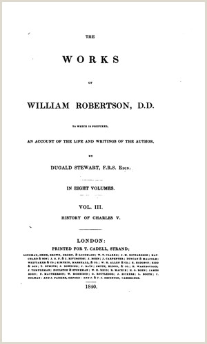 The Works of William Robertson vol 3 A View of the