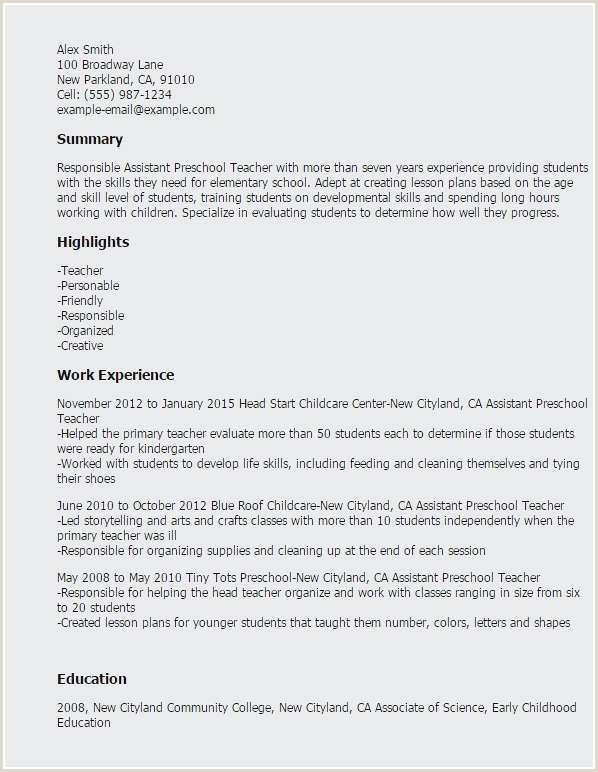 Babysitting Resume Template Examples Resume Ready