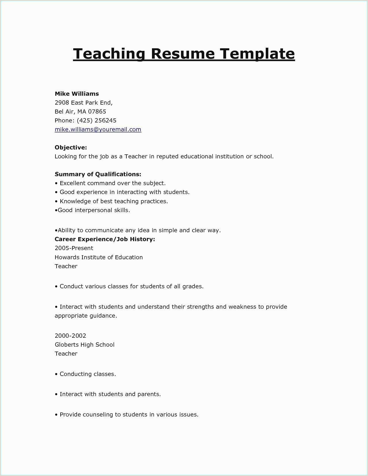 Cv Professional Skills Example Free Download 49 top Resume Templates Free Download Free