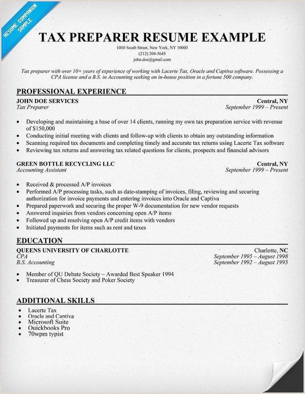 Sample Accountant Resumes New Accounting Resume Skills New