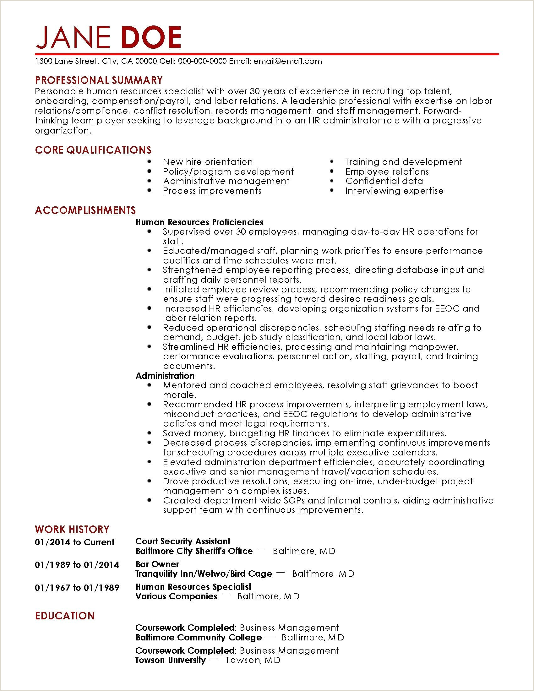 78 Elegant s Resume Examples for Administration