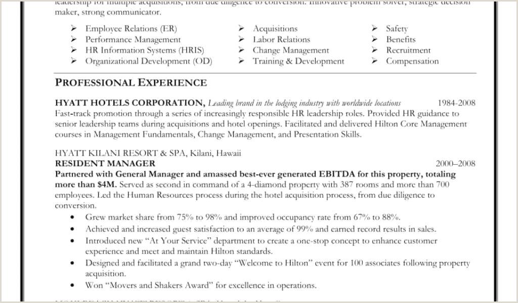 Cv Sample For Hotel Job Exemple De Cv En Anglais Pdf Nouveau Free Employment