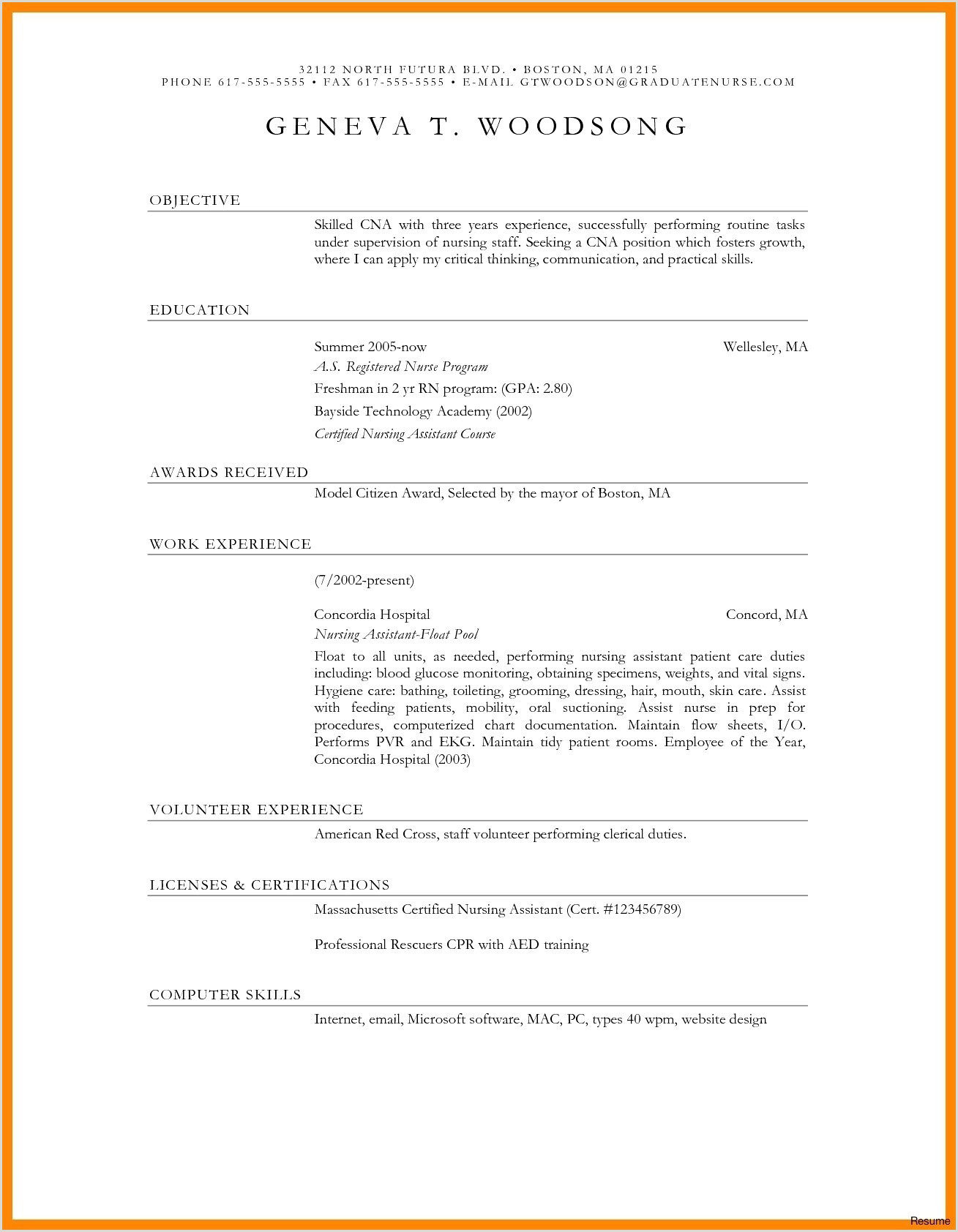 Simple Cv format for Teacher Schön Example Job Resume