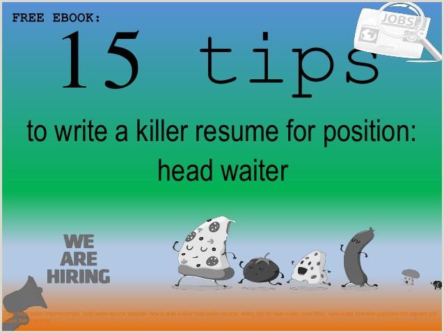 Head waiter resume sample pdf ebook