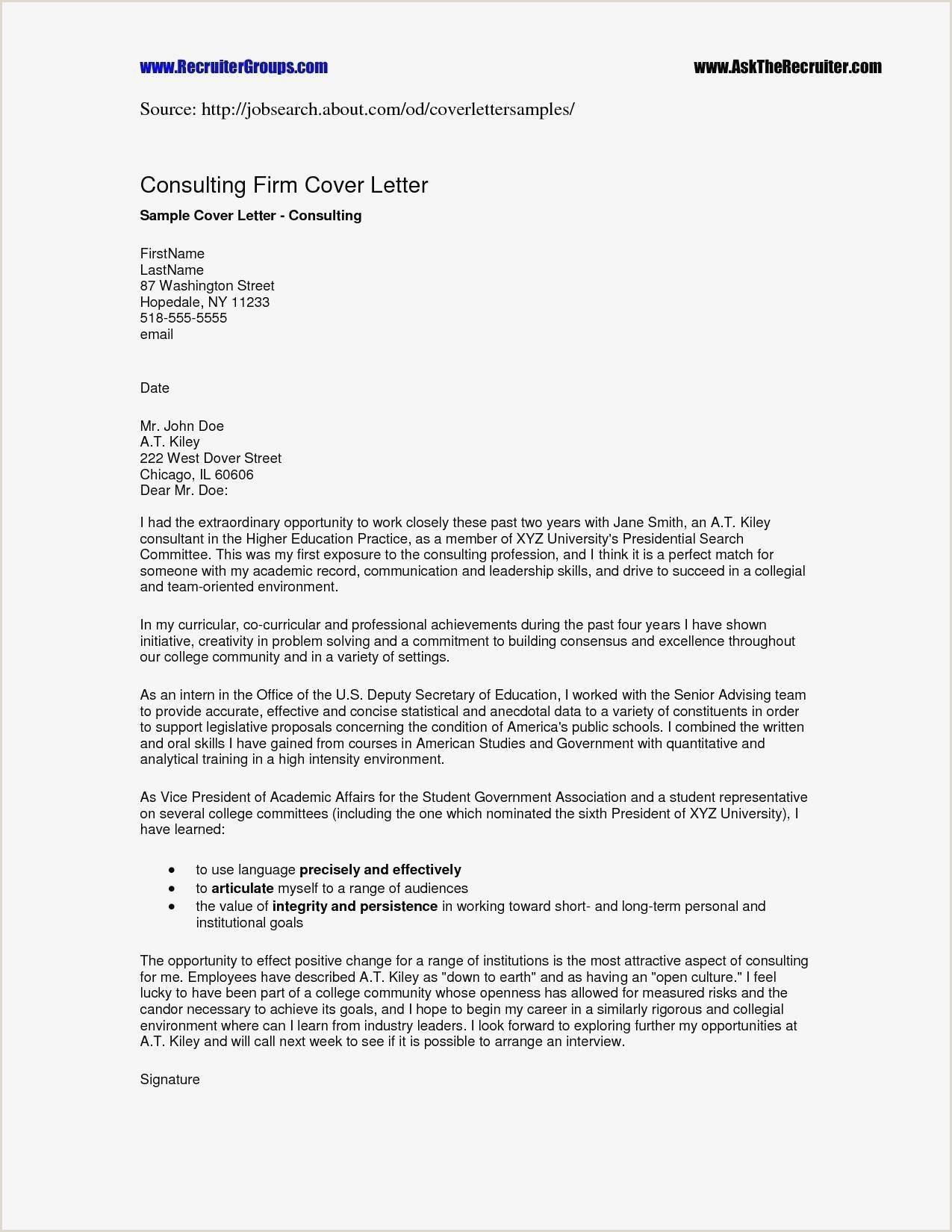 Cv Sample for Restaurant Job Elegant Cover Letter Sample