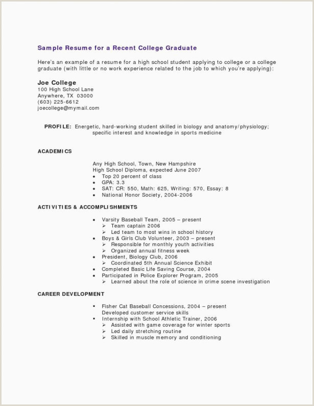 Job Specific Resume Sample Resume Template Samples Nanny