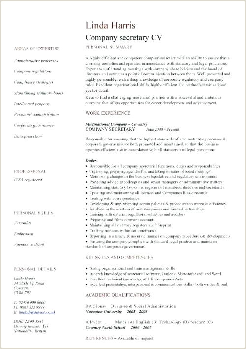 Corporate Resume Template Simple And In Cv Free Download Pdf