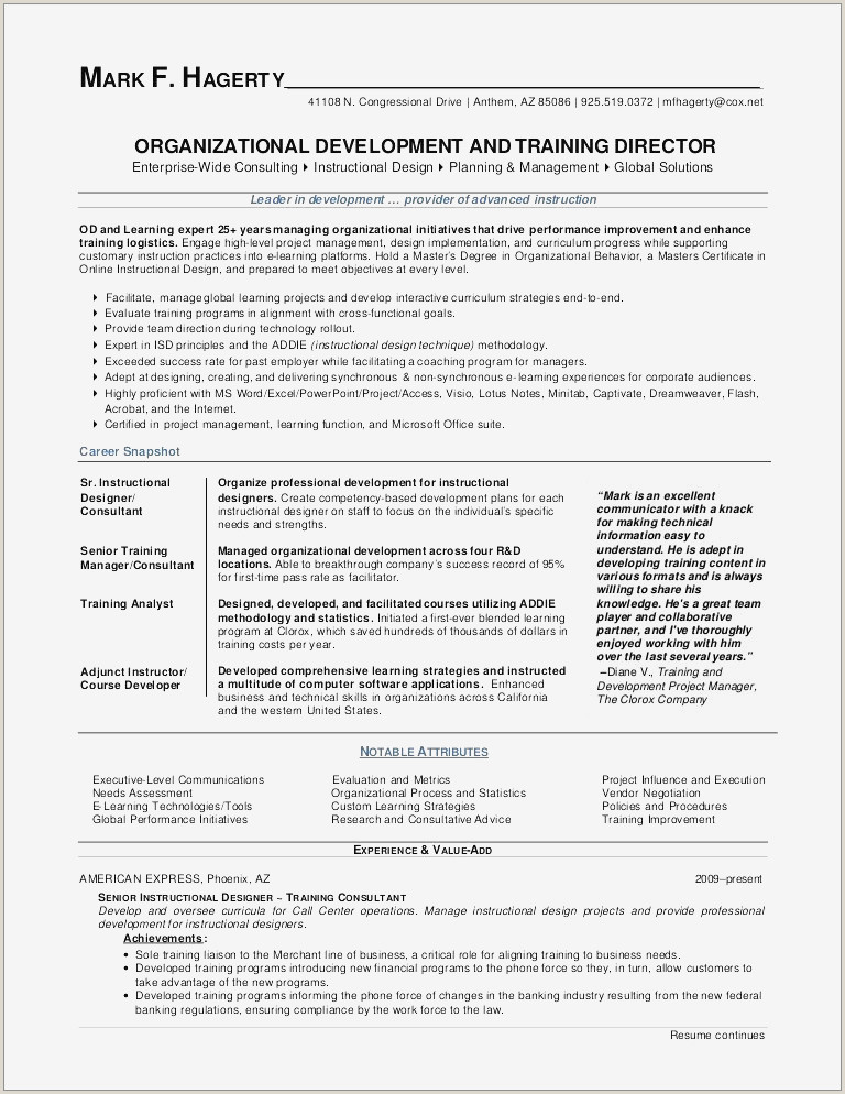 Performance Resume Template Examples Sample Resume An