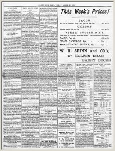 Daily Progress Report Cycling Notes 1896 03 13 Barry Dock News Welsh Newspapers