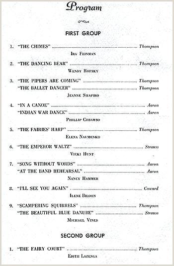 dance performance program template