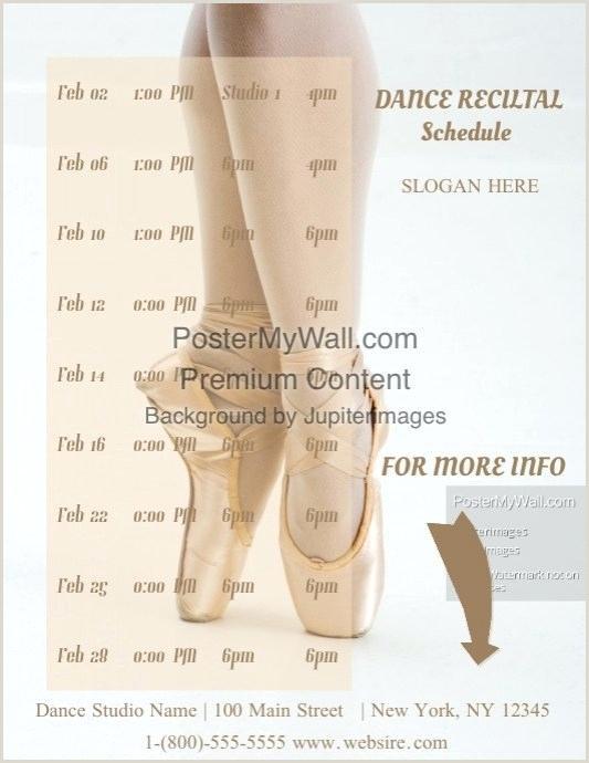 Piano Recital Template Free Dance Recital Flyer Template