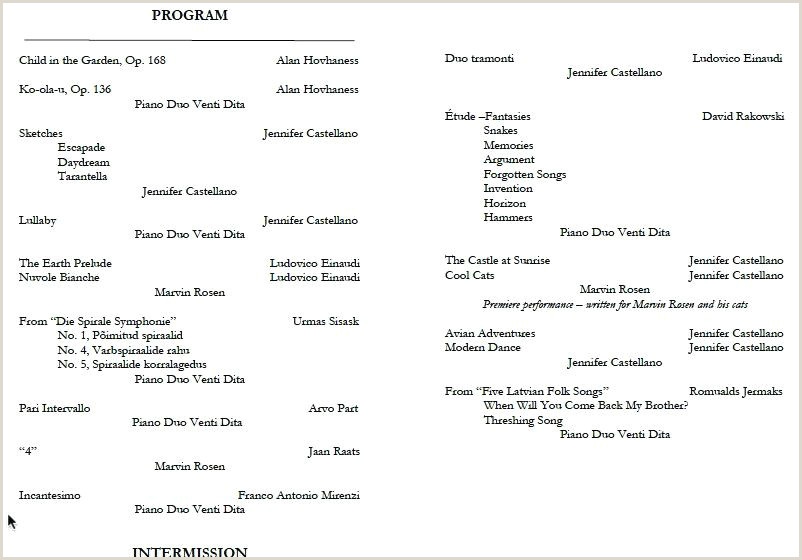 dance performance program template – bernardy