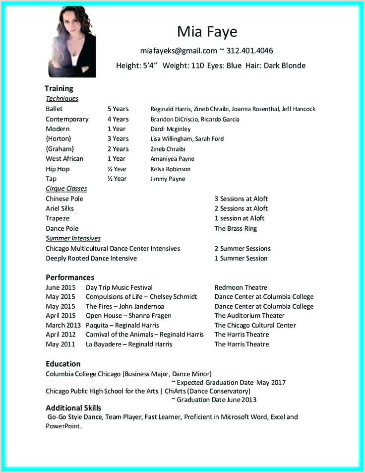 dance teacher resume template – elevenia