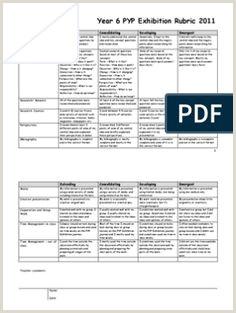 exhibition transdisciplinary skills rubric 1 PYP