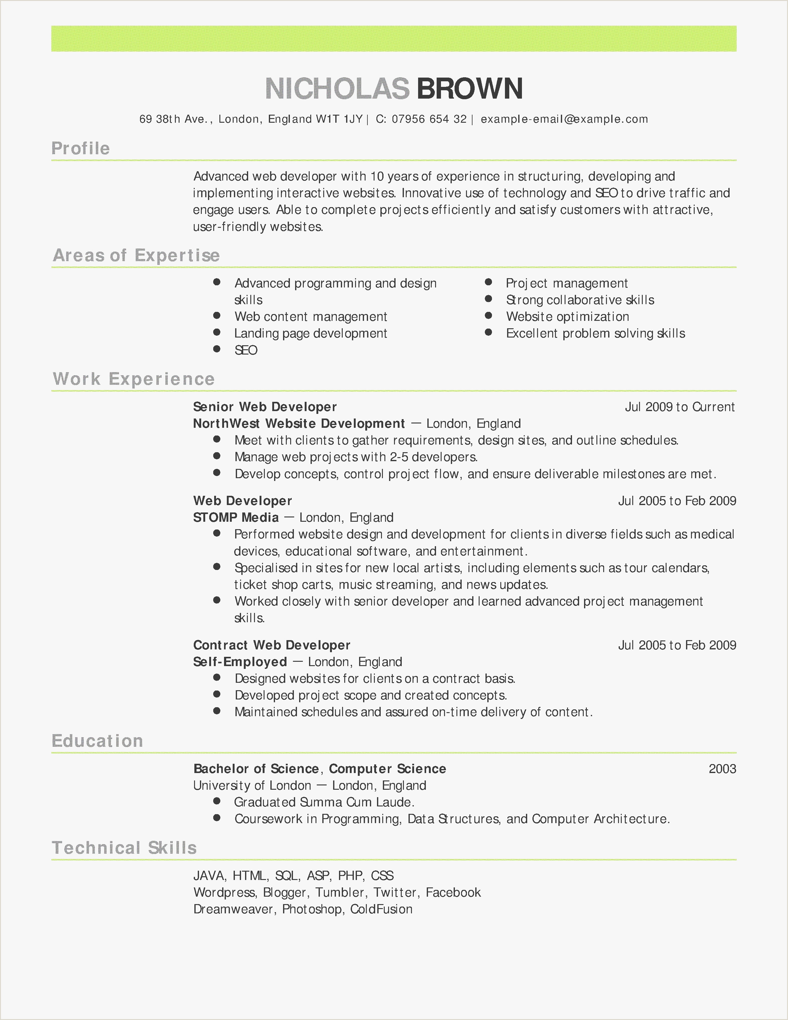 Database Administrator Resume Entry Level Entry Level Web Developer Cover Letter Awesome Human