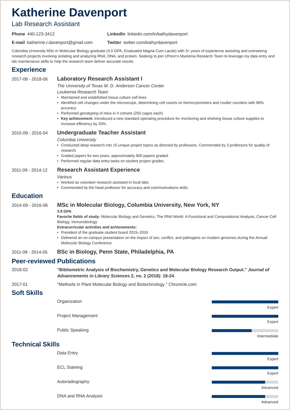 Database Administrator Resume Entry Level Research assistant Resume Sample & Writing Guide 20 Examples
