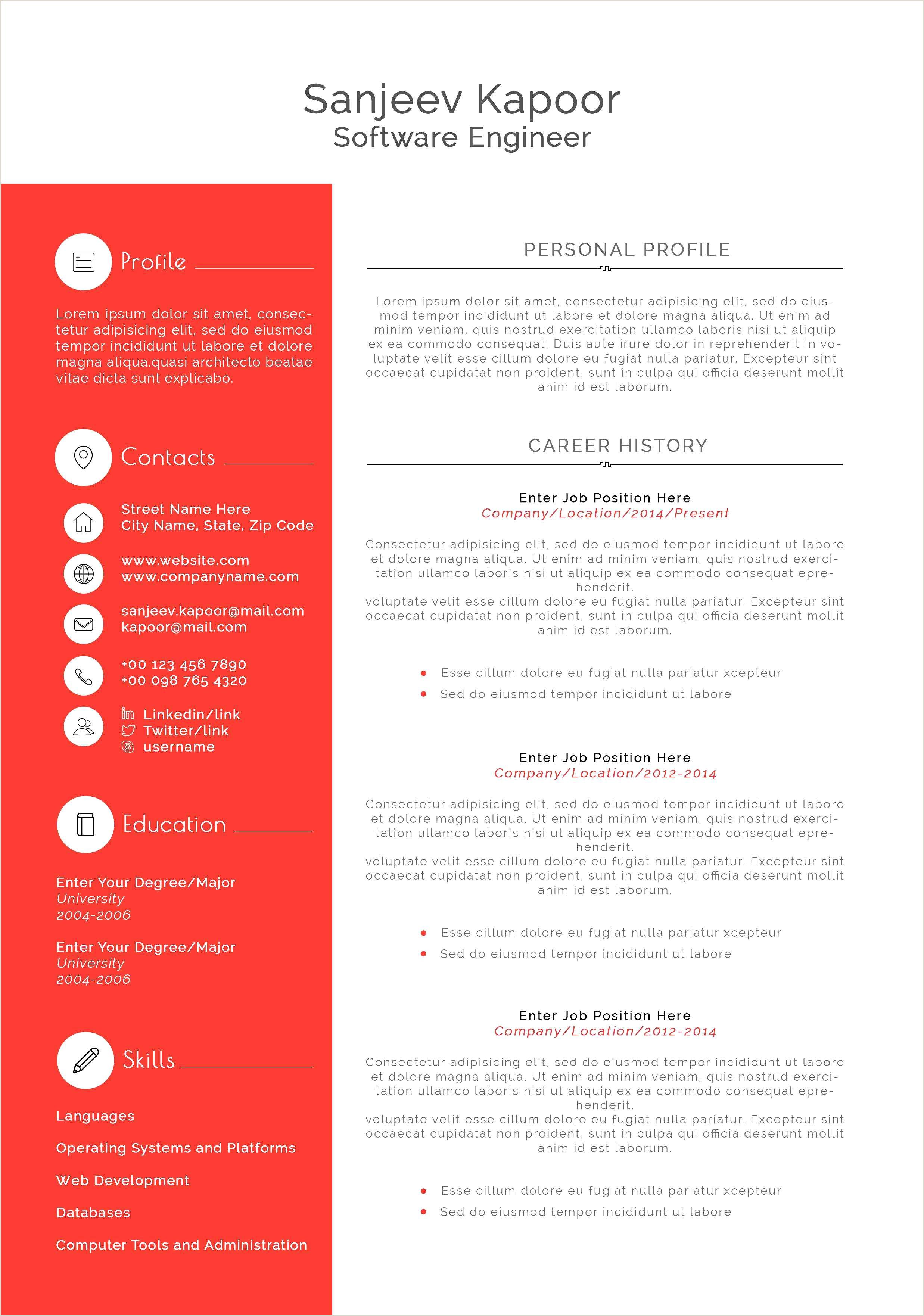 Free Resume Templates Microsoft Word Senior Developer Resume