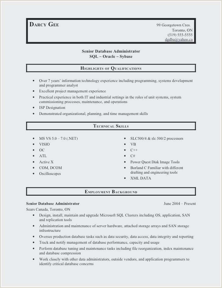 Database Developer Resume Inspirational Best Developer Resume
