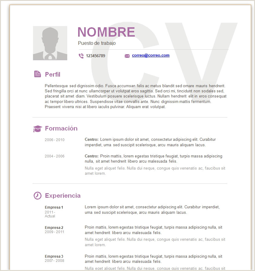 Datos Para Rellenar Un Curriculum Vitae Modelo Curriculum Vitae Basico Para Rellenar Ftithcm