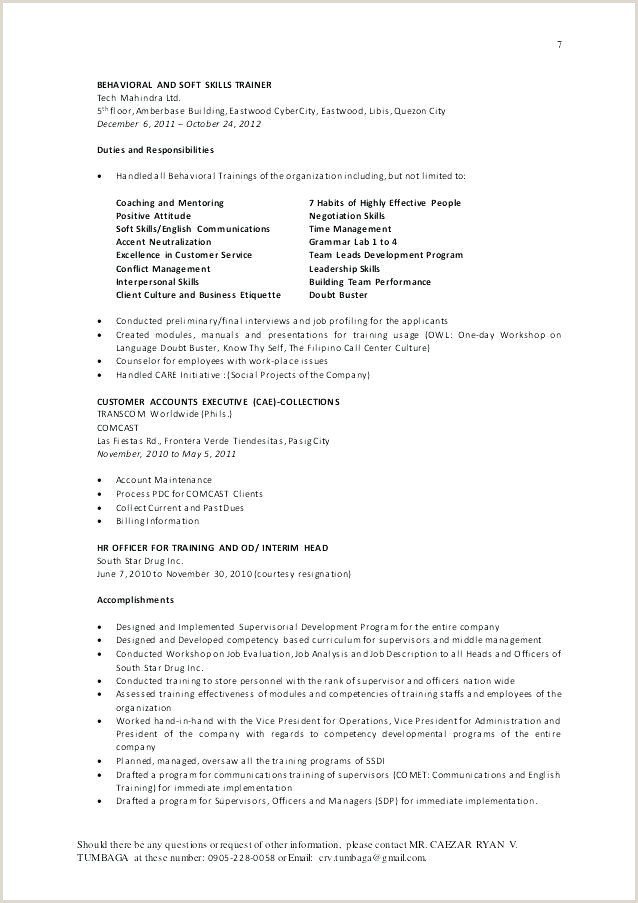 Daycare Resume Examples Ideal Child Care Provider Template