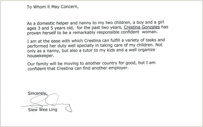Reference Letter For Nanny Template Aderichie Co Character