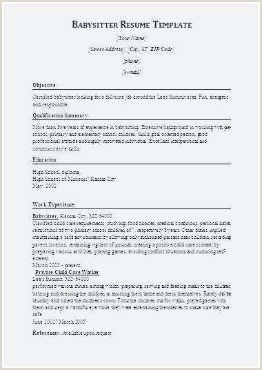 Child Care Resume Sample Best Child Care Resume Template