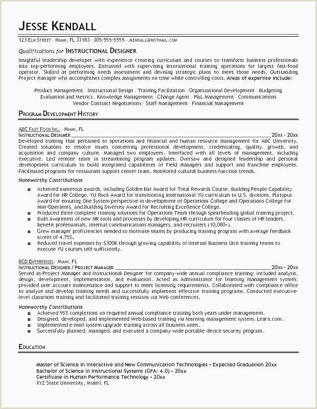 Daycare Resume Examples Plete Kindergarten Curriculum Fresh Curriculum Vitae