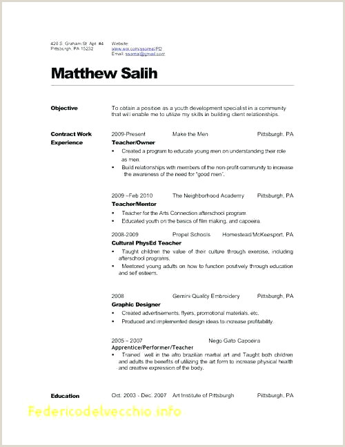 Daycare Teacher Resume Sample 43 Awesome S Early Childhood Education Resume
