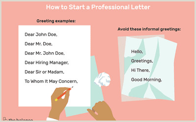 How to Choose the Right Greeting for Your Cover Letter