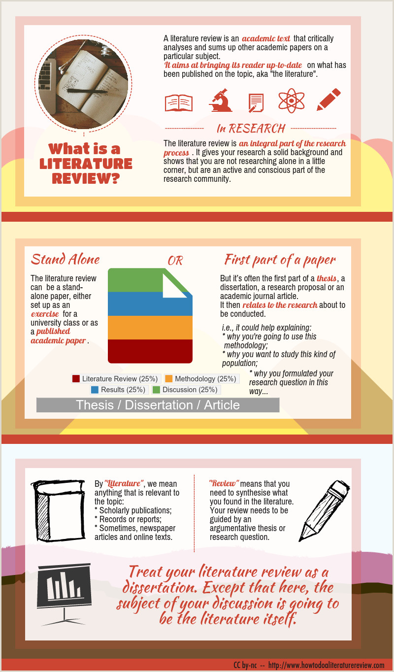 What is a Literature Review an infographic