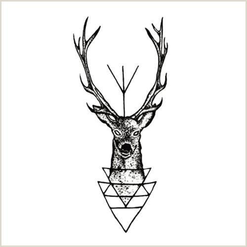 Chic Waterproof Temporary Tattoo Sticker Elk Deer Head Tattoo Bucks Fake Tattoo VOVA