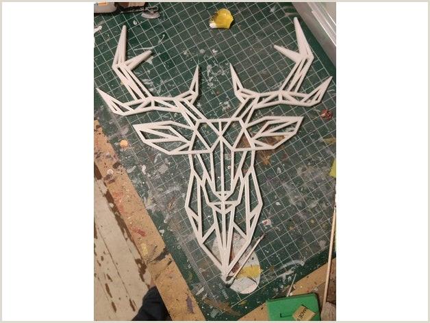 Geometric Deer Wall Sculpture by travisd7000