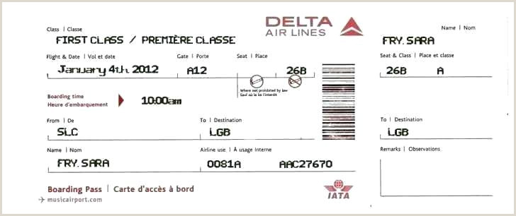 Delta Boarding Pass Flight Booking Confirmation Template The
