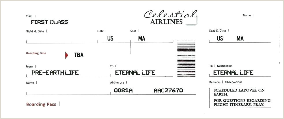 Fake Boarding Pass Template Airline Awesome Airplane Travel
