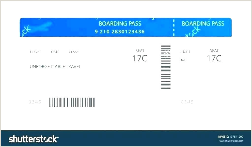 Plane Boarding Ticket Template Pass Delta Airlines