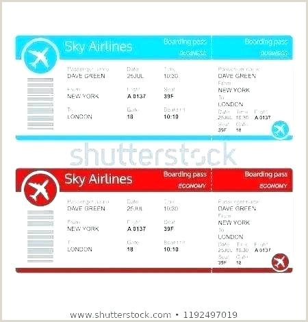 Delta Boarding Pass Template Trip Ticket Template