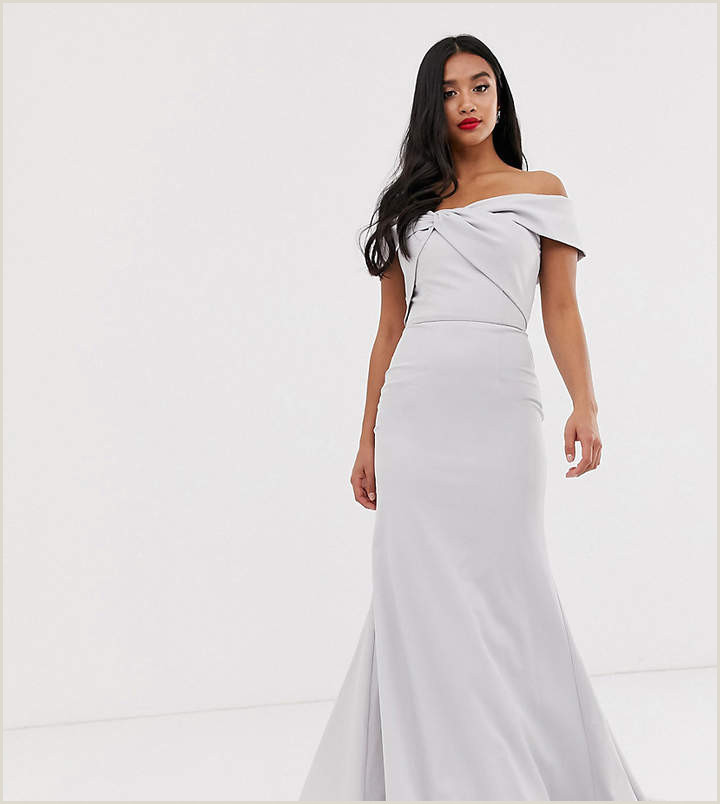 Jarlo Petite knot front maxi dress in silver gray