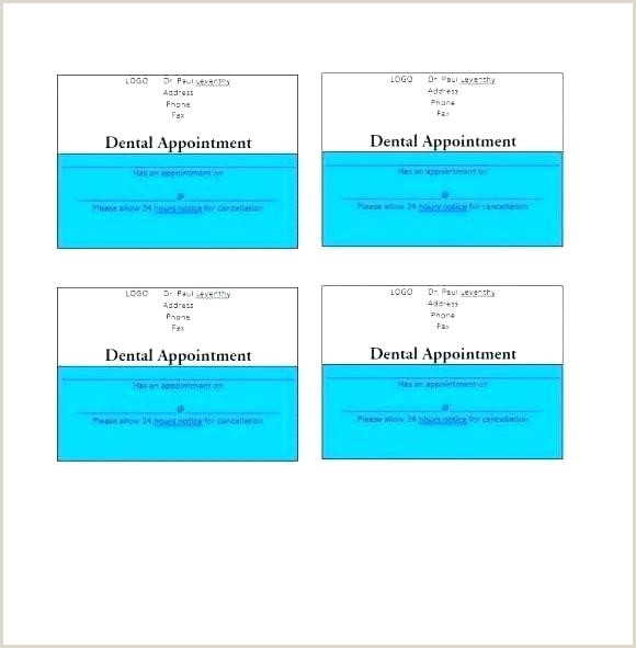 Dental Appointment Card Printable Appointment Cards Templates Doctor Reminder