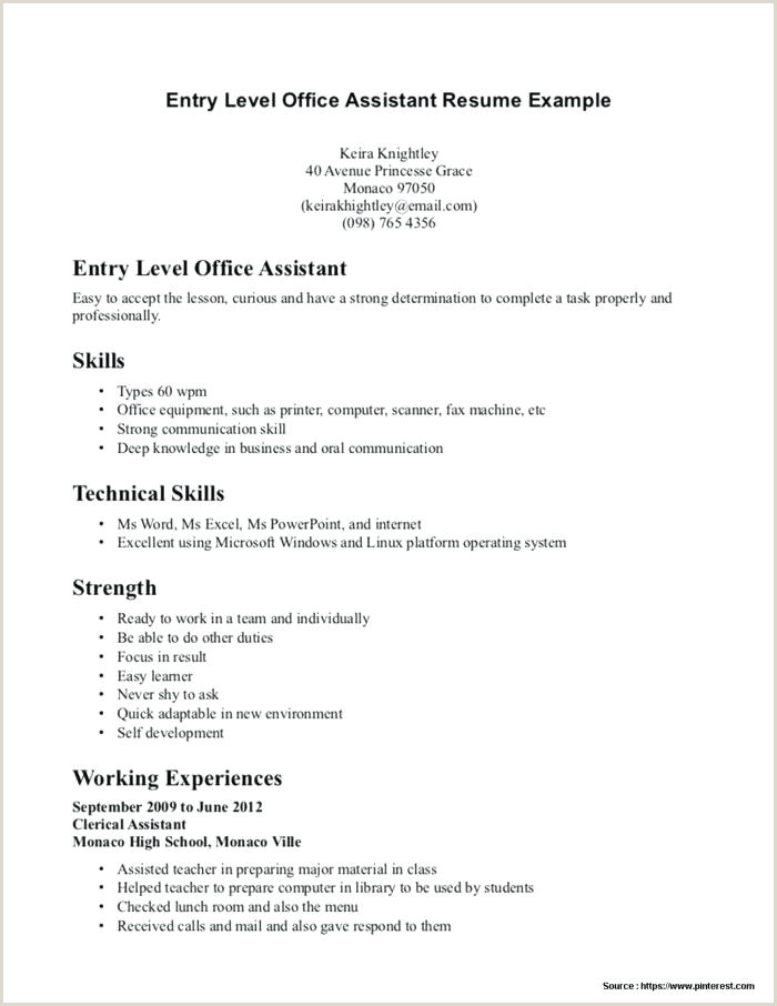 Dental assistant Resume No Experience 13 Entry Level Resume No Experience