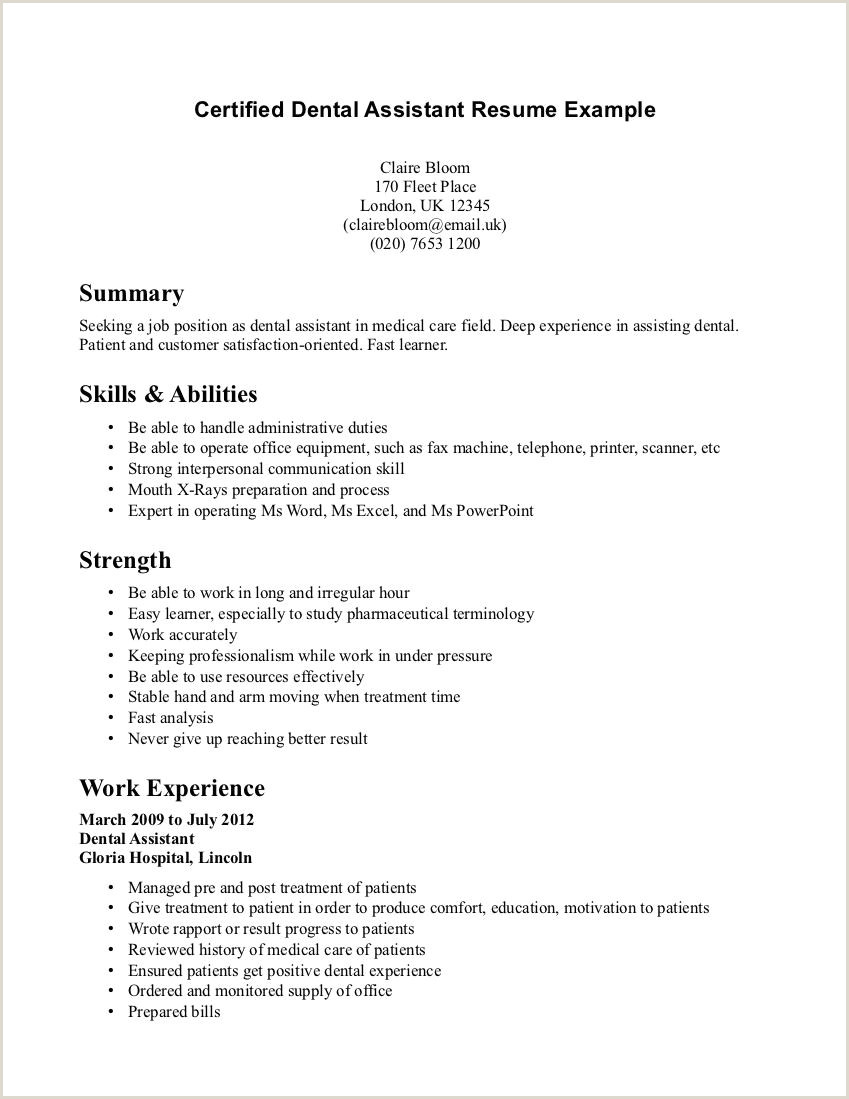 Dental assistant Resume Objectives Examples 10 Medical assisting Resume Objectives