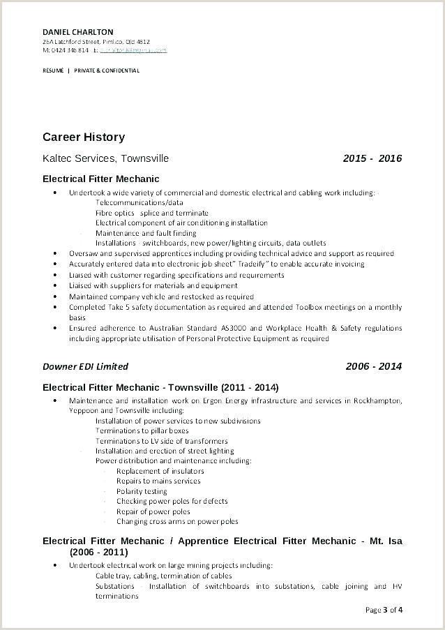 Maintenance Supervisor Cover Letter Mechanic Resume Samples