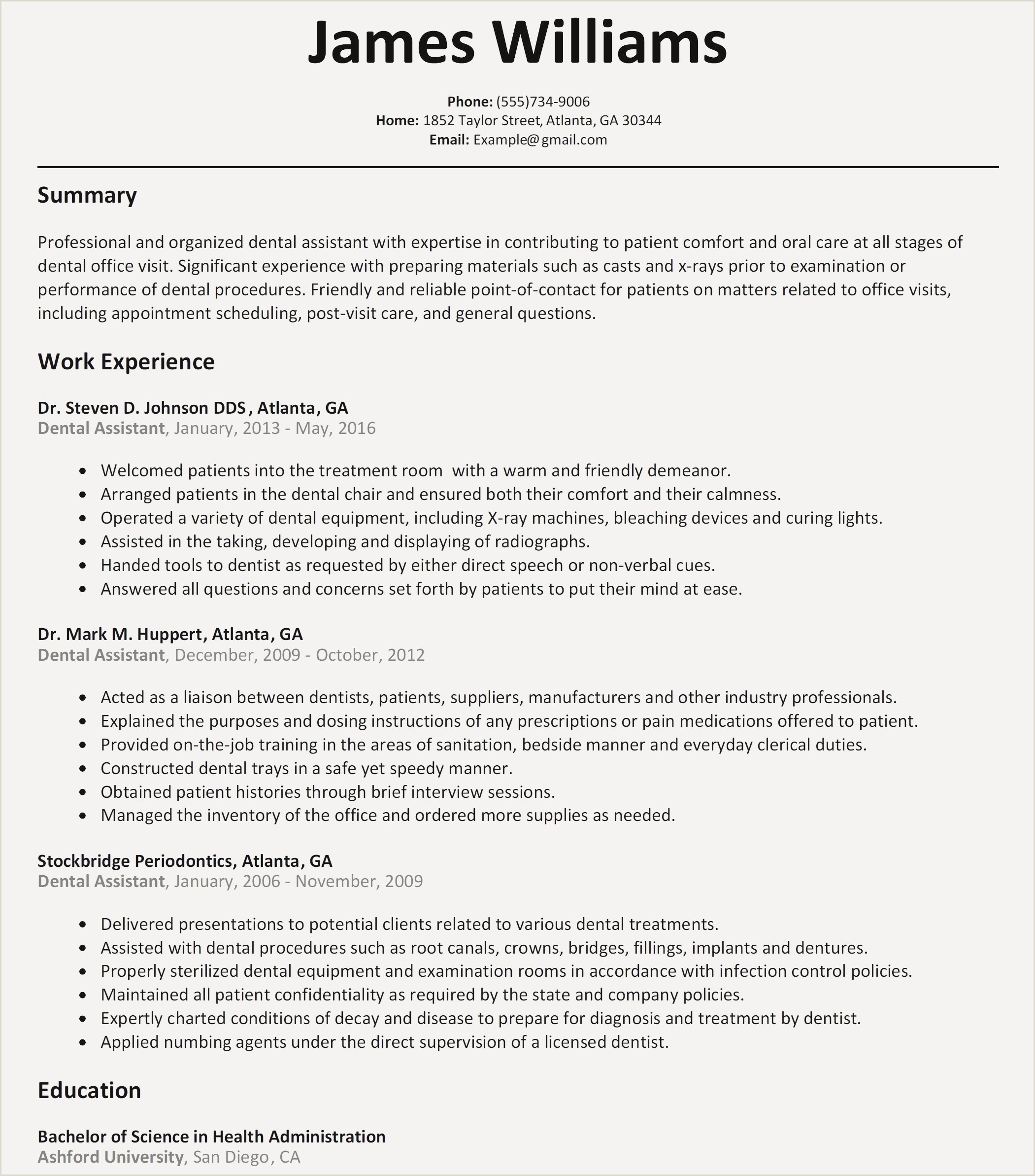 Dental assistant Student Resume Fresh Dental Student Resume