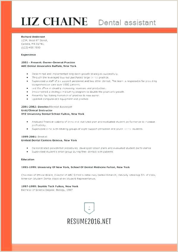 Orthodontic assistant Resume Sample Unique General Manager