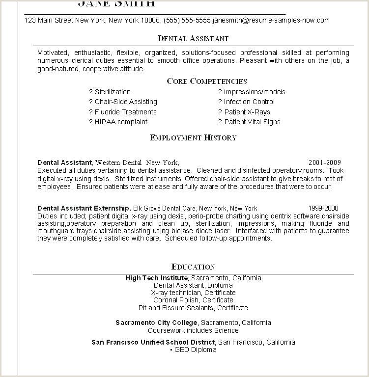 Dental Hygiene Cover Letter Sample Recent Graduate Dental assistant Job Application Template