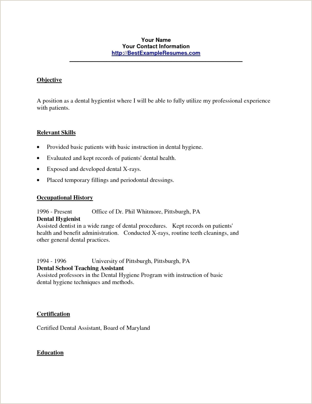 Dental Hygienist Resume Lovely Resume Sample for Pennsylvania University – 50ger