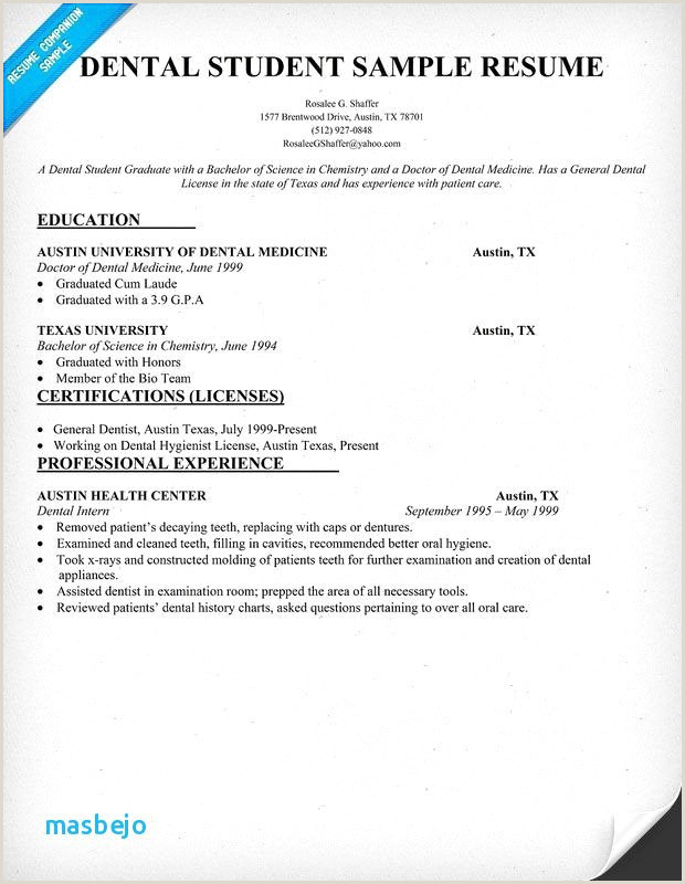 25 Free Dental Hygienist Resume Example